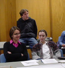 Students at a Task Force Open Student Forum